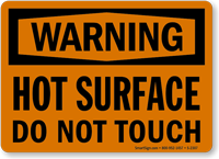Warning Hot Surface Touch Sign