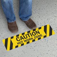 Hot Work Zone Floor Safety Sign