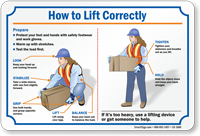 How To Lift Correctly Weight Lifting Sign