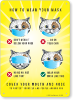 How to Wear Your Mask Cat Sign
