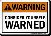 Humorous Ansi Warning Sign