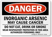 Inorganic Arsenic May Cause Cancer Sign