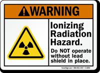 Ionizing Radiation Hazard ANSI Warning Sign