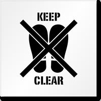 Keep Clear No Footprint Symbol Stencil
