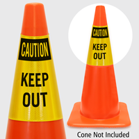 Caution Keep Out Cone Collar