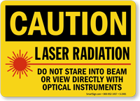Caution Laser Radiation Do Not Stare Sign