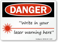 Danger Laser Symbol Sign