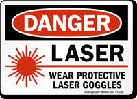 Laser Wear Protective Laser Goggles Danger Sign