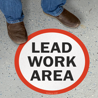Circular Lead Work Area SlipSafe Floor Sign