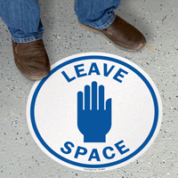 Leave Space SlipSafe Floor Sign
