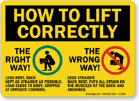 How To Lift Correctly Right Way!... Sign