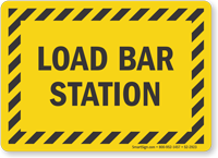 Load Bar Station Truck Signs