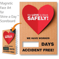 We Love To Work Safely Scoreboard Changeable Face