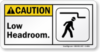 Low Headroom Sign