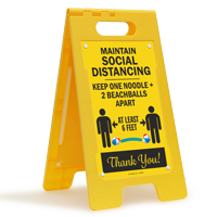 Maintain Social Distancing At Least 6 Feet FloorBoss Sign
