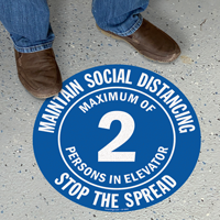 Maintain Social Distancing Select Maximum Persons Floor Sign