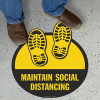 Maintain Social Distancing with Shoeprints