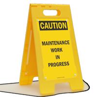 Maintenance Work In Progress Free-Standing Sign