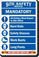 Mandatory Area Under Video Surveillance Sign