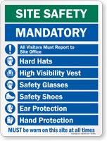 Mandatory Must Be Worn On This Site Sign