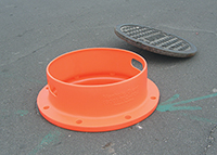 Rugged Plastic Guard For Safety Of Open Manhole