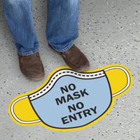 Mask Shaped - No Mask, No Entry