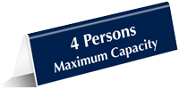 Maximum Capacity Select Number Of Persons Tent Sign