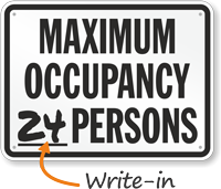 Maximum Occupancy Persons Pool Rule Sign