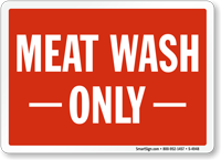 Meat Wash Sign