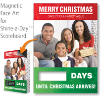 Merry Christmas Scoreboard Changeable Magnetic Face