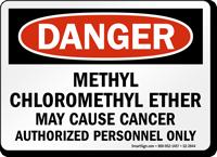 Methyl Chloromethyl Ether May Cause Cancer Danger Sign