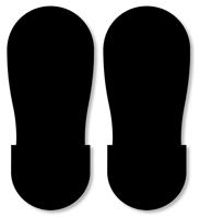 Big Footprints Shape Floor Marking