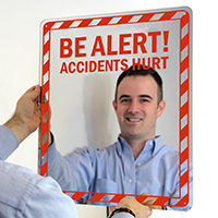 Be Alert! Accidents Hurt! Sign