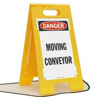 Moving Conveyor OSHA Danger Floor Standing Sign