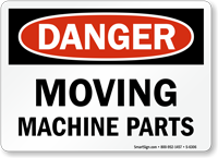 Moving Machine Parts Danger Sign