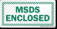 MSDS Enclosed Sign