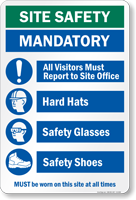 Must Be Worn On This Site Safety Sign
