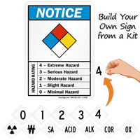 Hazard Rating Build Your Own Sign From Kit