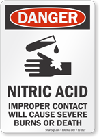 Nitric Acid OSHA Danger Sign