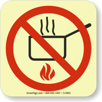 GlowSmart™ No Cooking Sign