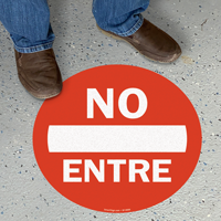 No Entre Slipsafe™ Floor Sign