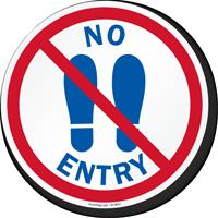 No Entry With Footprints Symbol SlipSafe Floor Sign