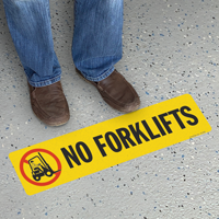 No Forklifts with Symbol