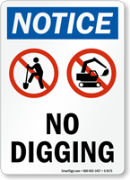 No Digging Sign