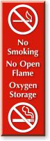 No Smoking No Open Flame Oxygen Storage Sign