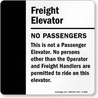 No Passengers Sign