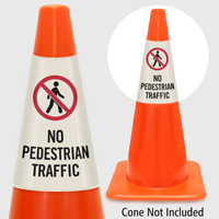 No Pedestrian Traffic Cone Collar