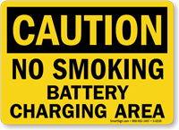 Caution: No Smoking Battery Charging Area