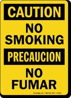 Caution No Smoking/Precaucion No Fumar Sign