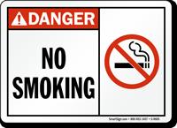 Danger: No Smoking (with symbol)